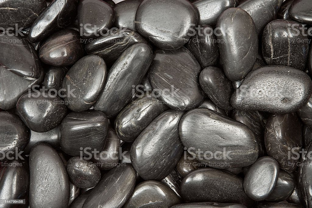 Black Pebbles Texture stock photo