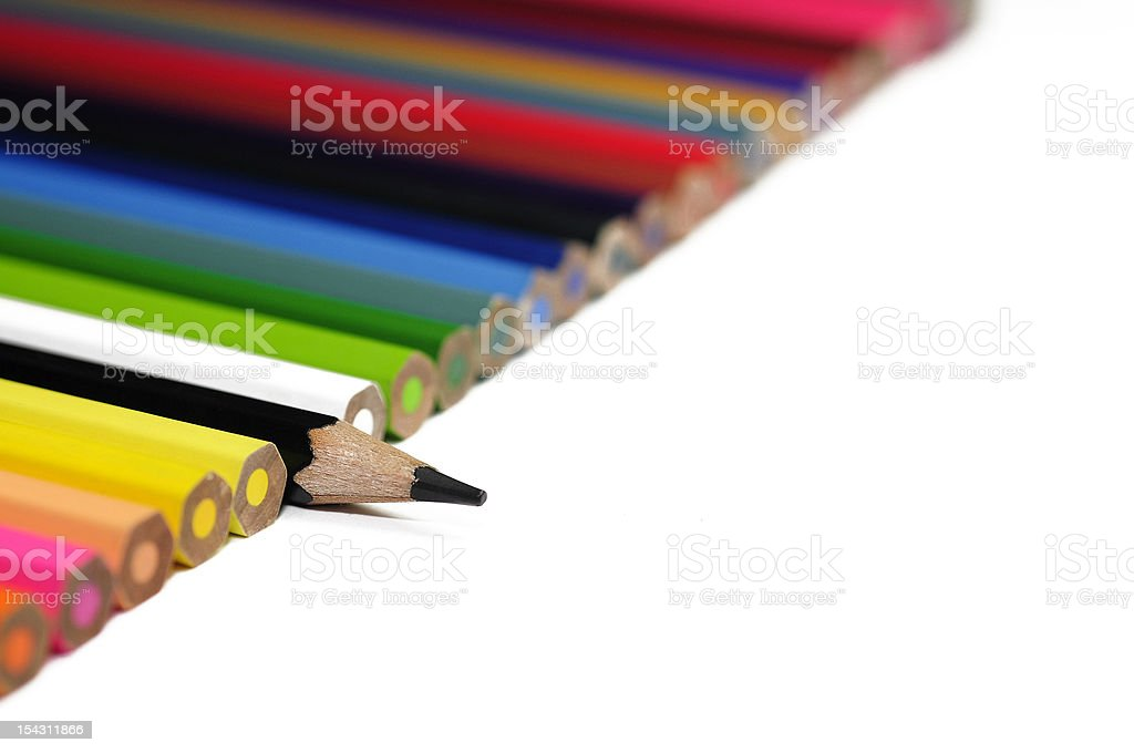 black pencil and other stock photo