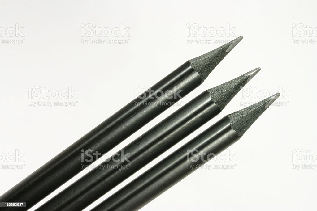 Black Pencils royalty-free stock photo