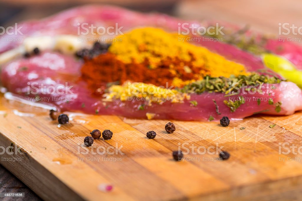 Black pepper and steak royalty-free stock photo