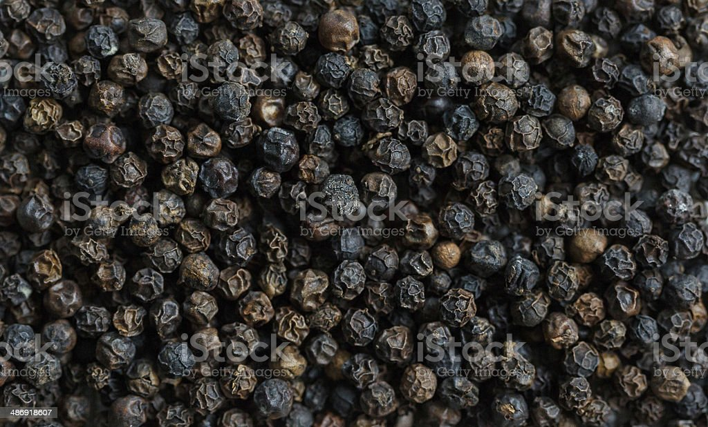 Black pepper background stock photo