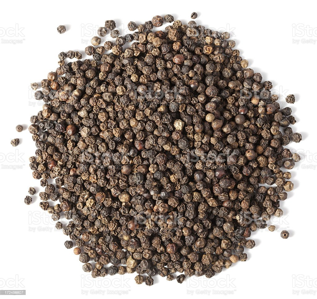 Black peppercorn royalty-free stock photo