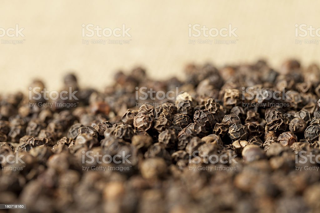 Black peppercorn royalty-free stock photo