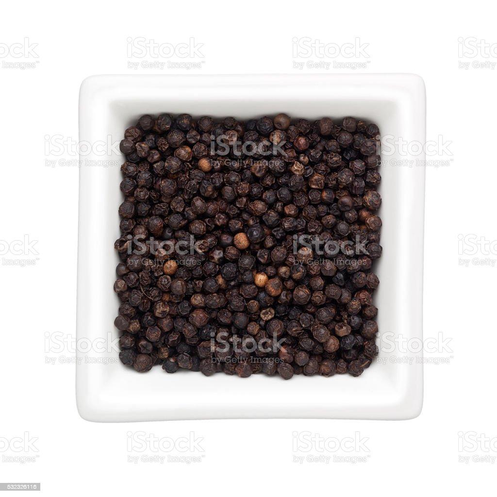 Black peppercorn stock photo