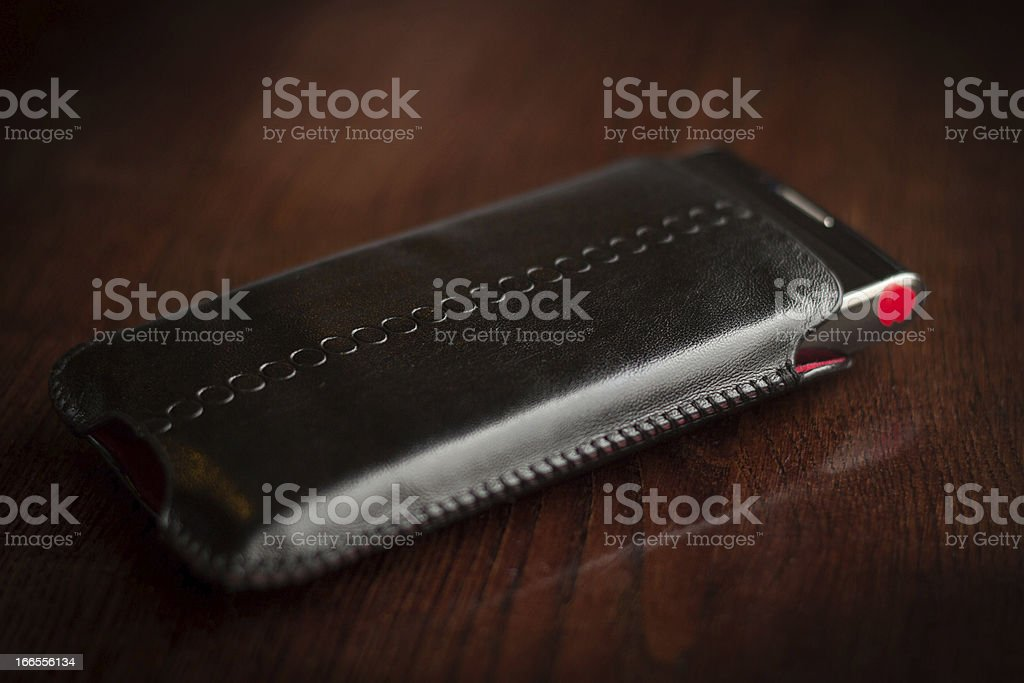 Black phone in a cover royalty-free stock photo