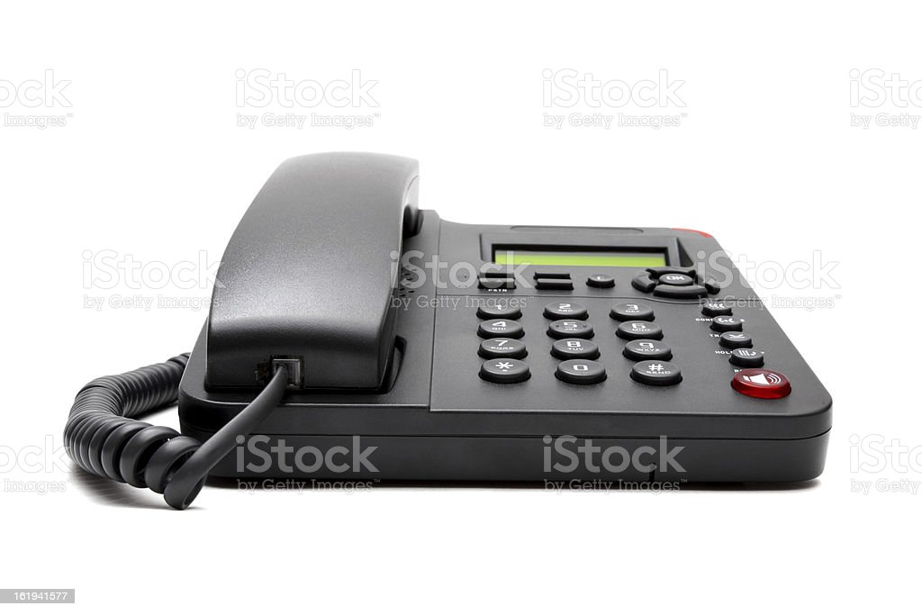 black phone isolated on white background royalty-free stock photo