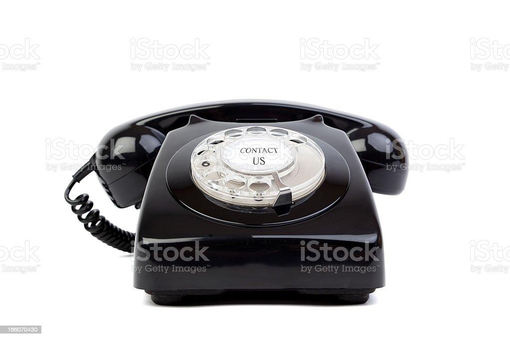 Black phone royalty-free stock photo
