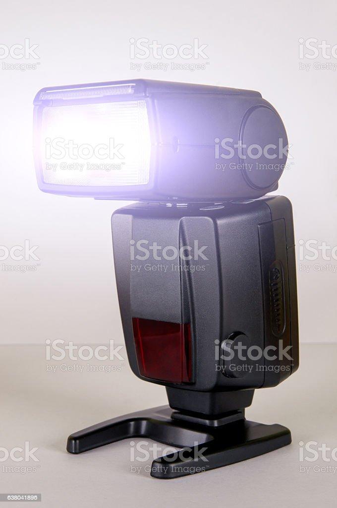 Black Photo Camera Flash stock photo