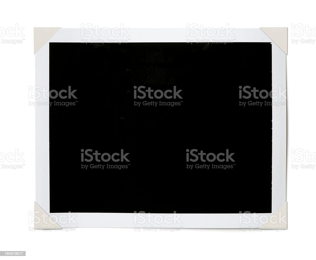 Black Photo Corners stock photo