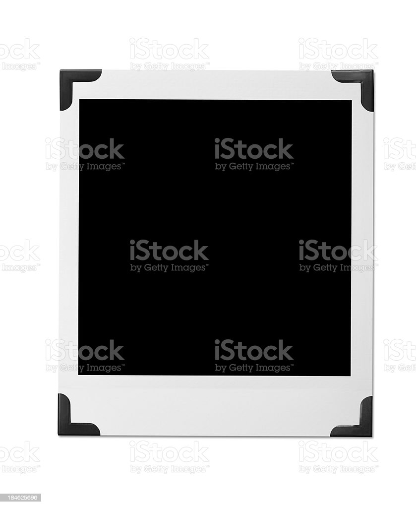 Black Photo Corners royalty-free stock photo