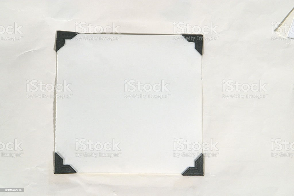 Black Photograph Corners stock photo