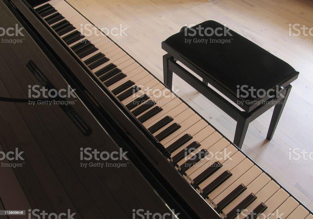 Black piano 2 stock photo
