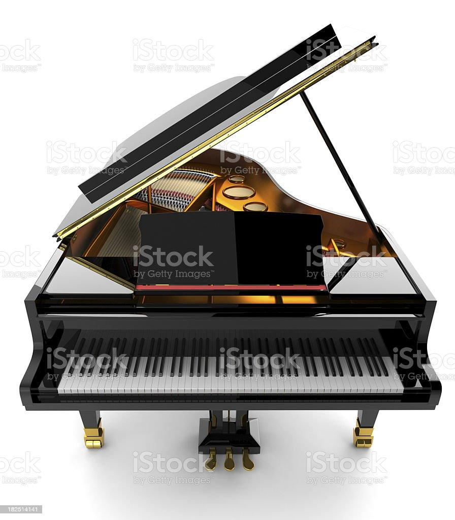 Black piano stock photo