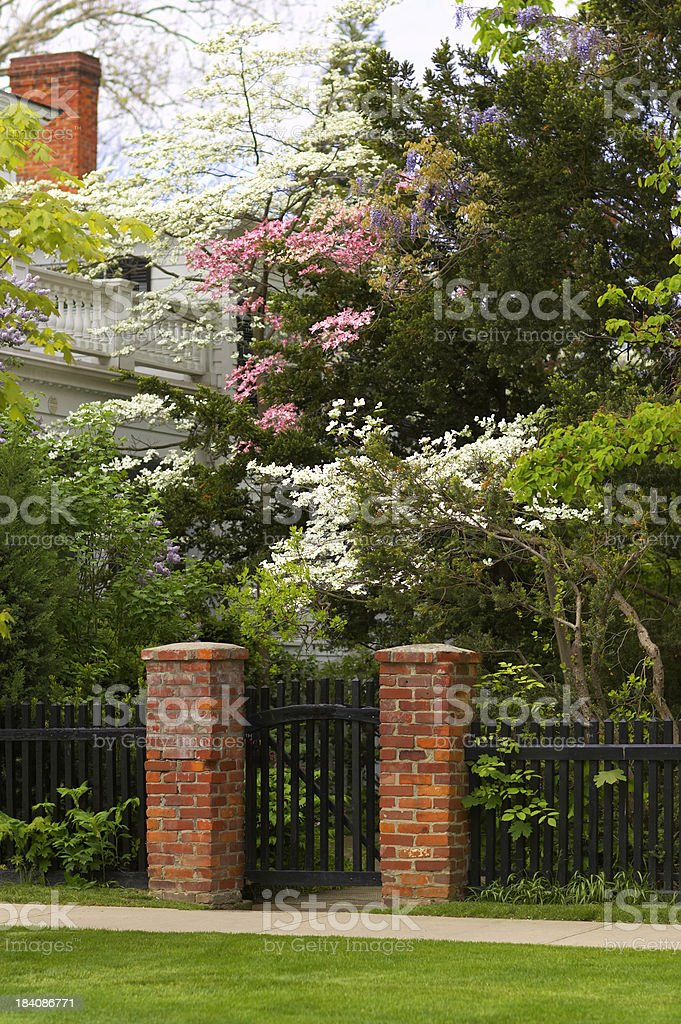 Black Picket Fence stock photo