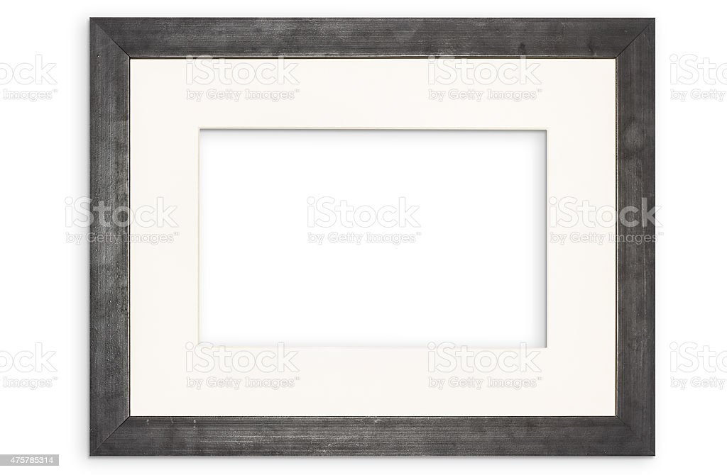 black picture frame stock photo