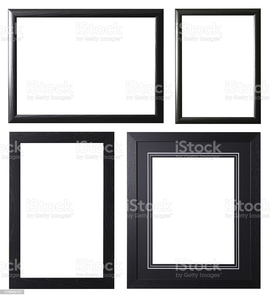 Black Picture Frame Selection stock photo