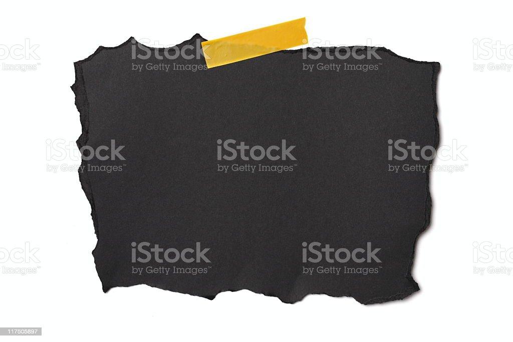 Black Piece of Paper stock photo