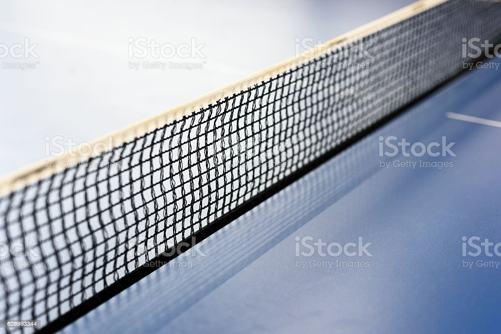 Black Ping Pong Tabletennis Net stock photo