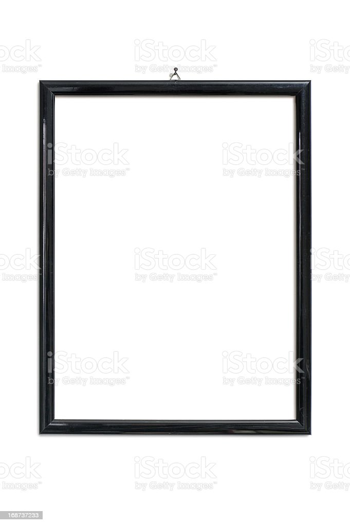 A black plain and empty picture frame royalty-free stock photo