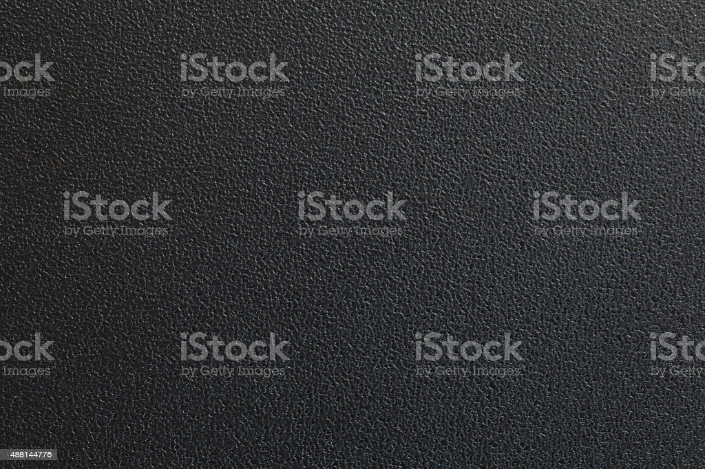 Black plastic material stock photo
