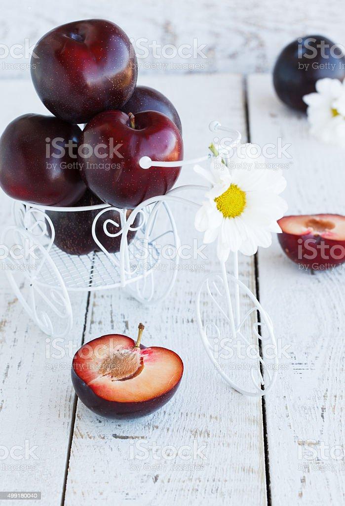 black plum stock photo