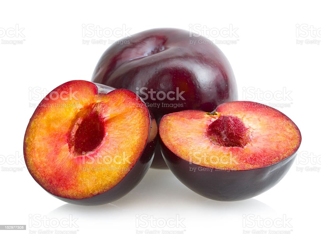 black plums stock photo