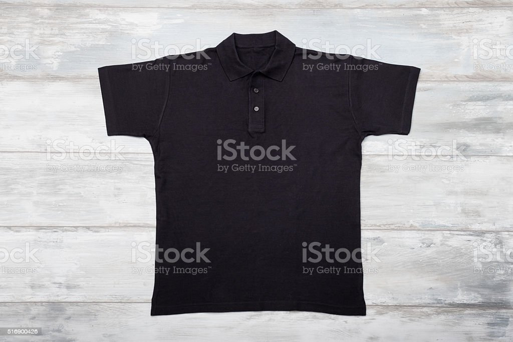 Black polo shirt stock photo