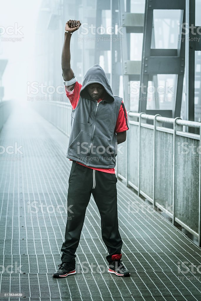 Black power stock photo