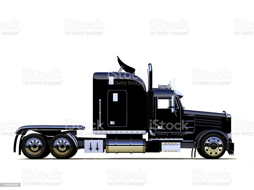 Black powerful truck stock photo