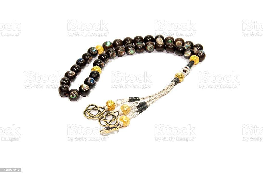 Black rosary stock photo