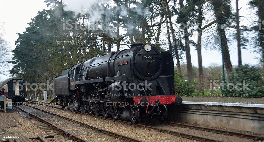 Black Prince at  Holt station North Norfolk Railway stock photo