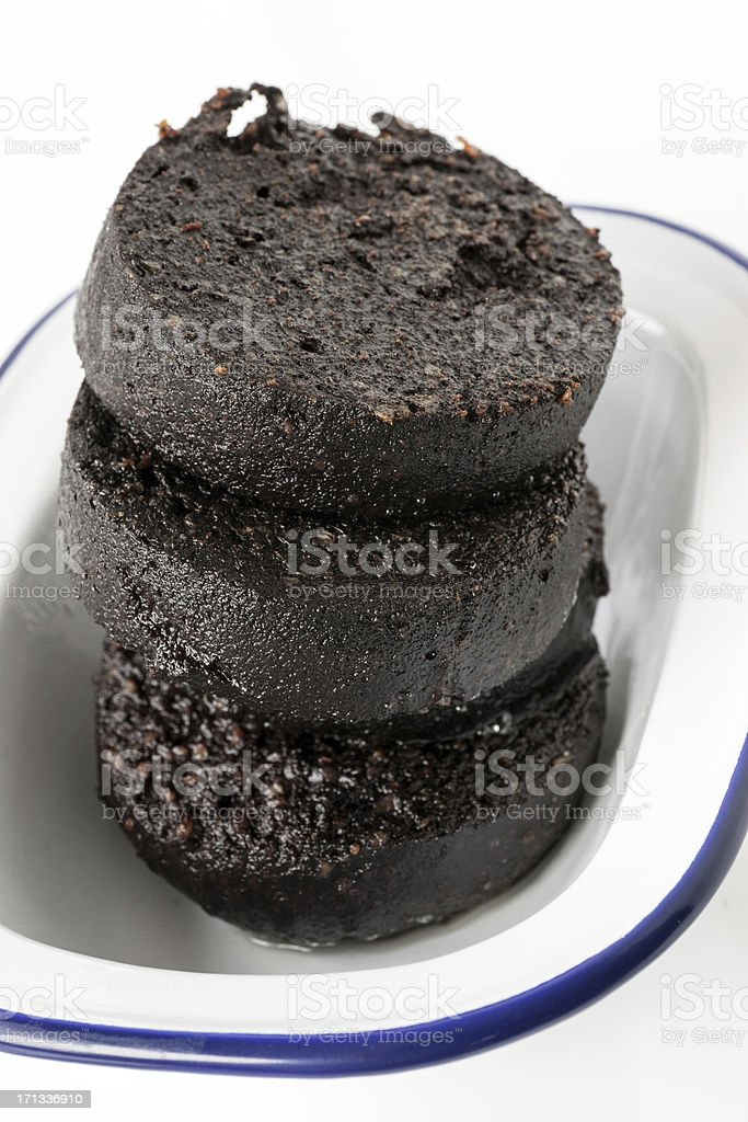 Black pudding royalty-free stock photo