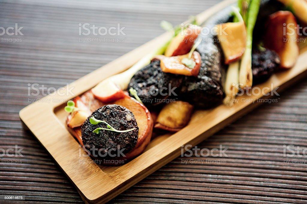 Black Pudding (Boudin) stock photo