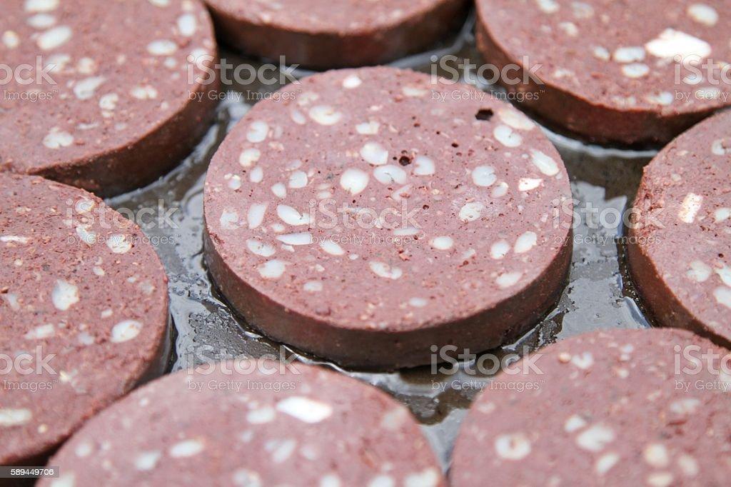 black pudding stock photo