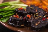 black pudding sausage