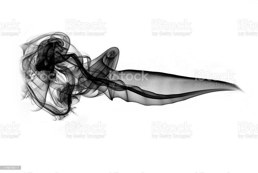 Black puff of abstract smoke royalty-free stock photo