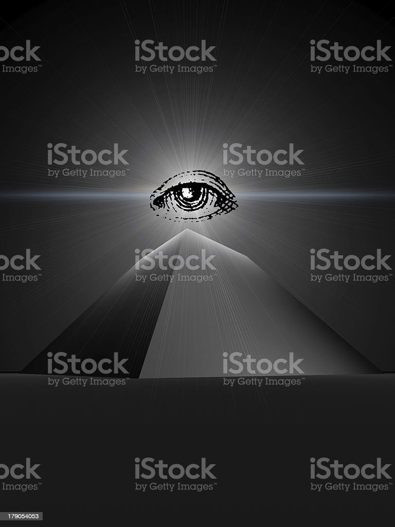 black  pyramid of providence stock photo