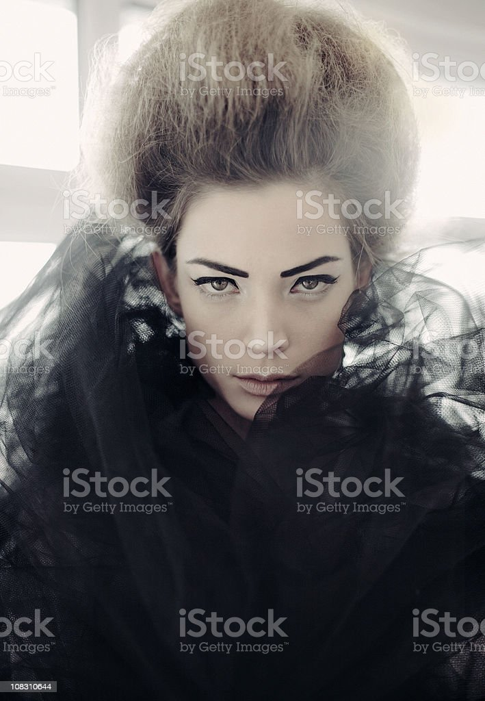 Black Queen royalty-free stock photo