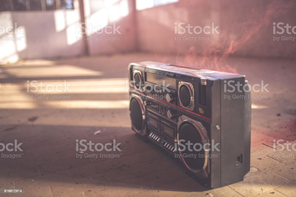 Black radio stock photo