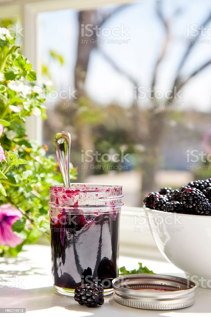 Black Raspberry Jam stock photo