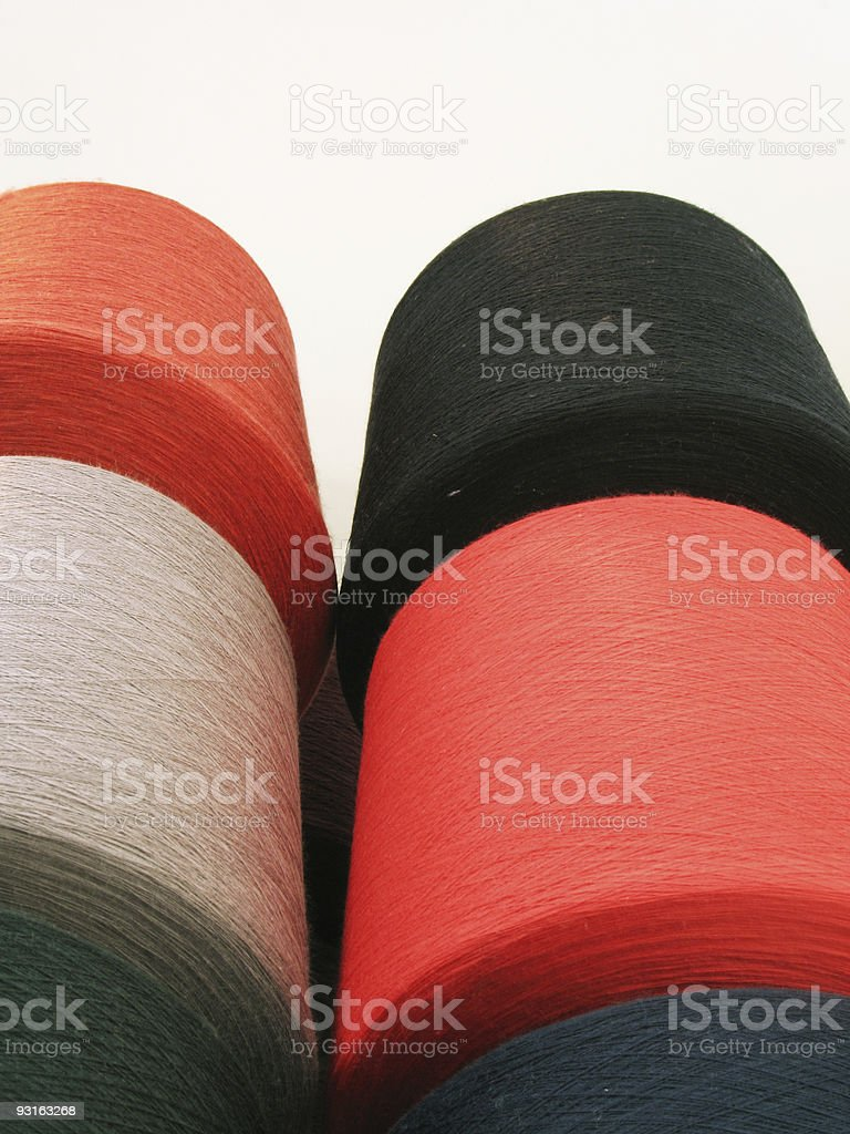 Black & red Yarn royalty-free stock photo