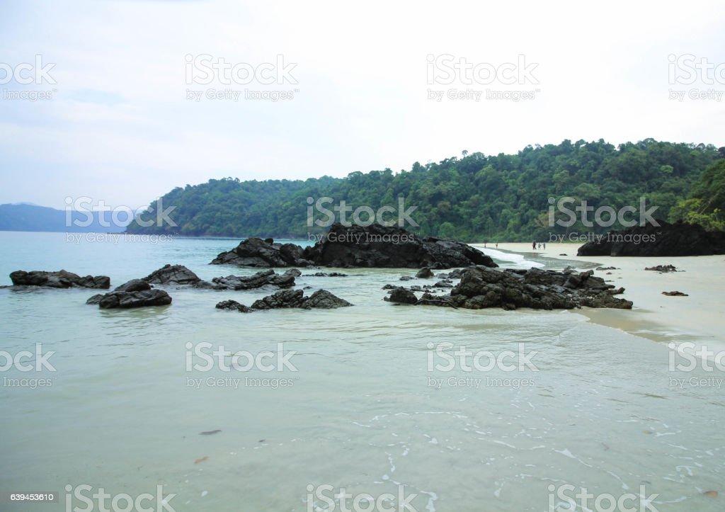 black reefs stock photo