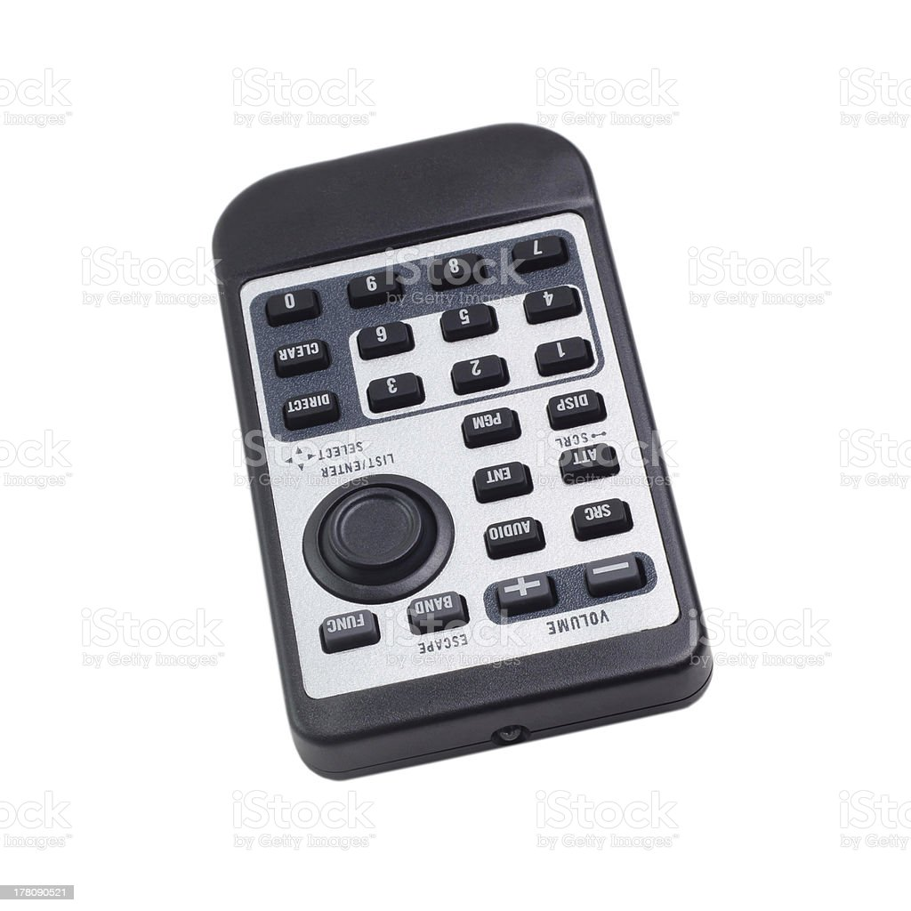 black remote control car radio from isolated royalty-free stock photo