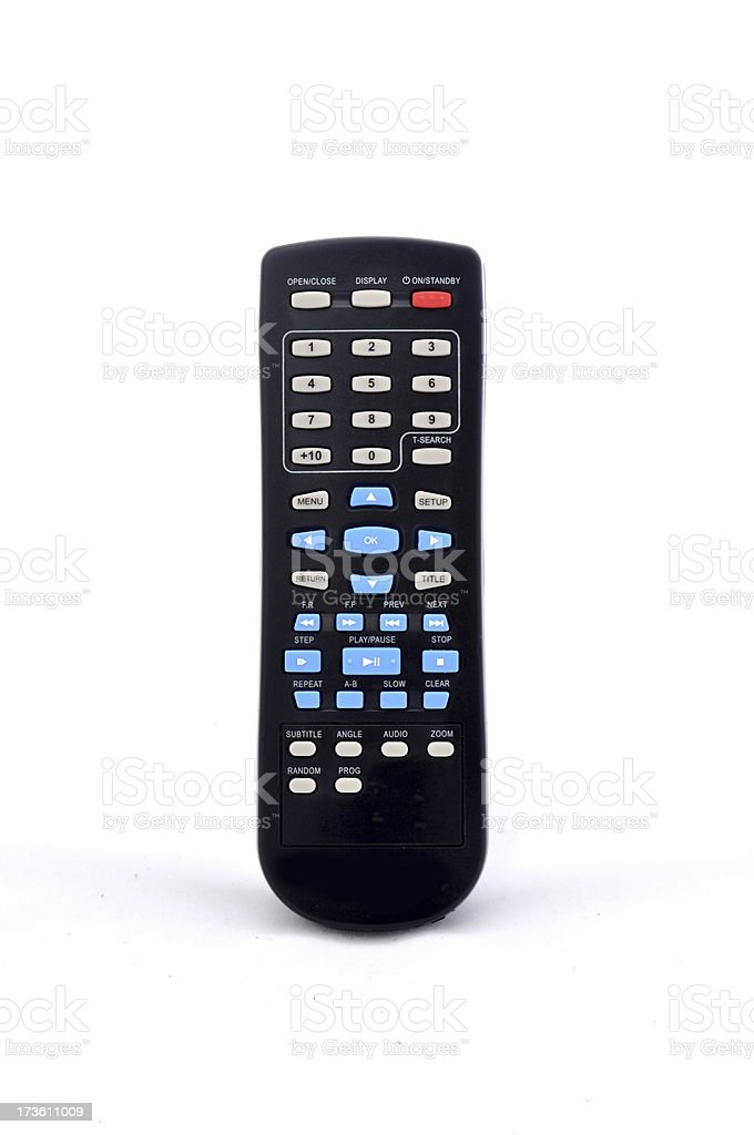 black remote control for electronic belongings royalty-free stock photo