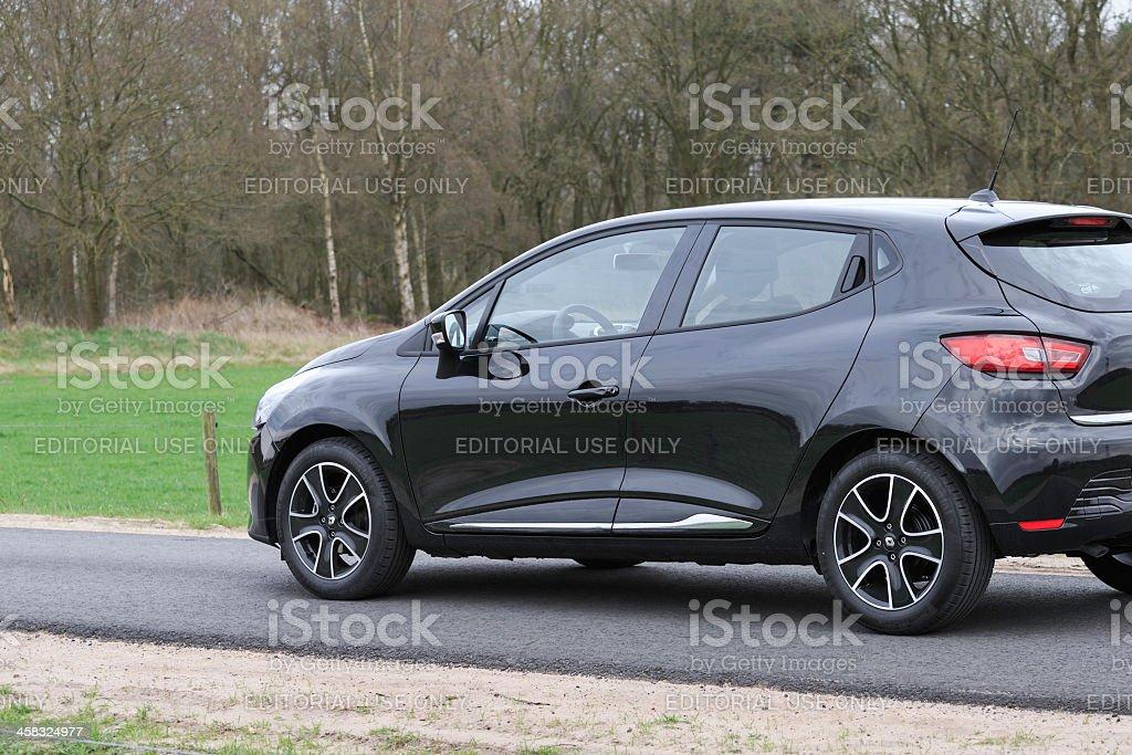 Black Renault Clio 2013 hatchback royalty-free stock photo
