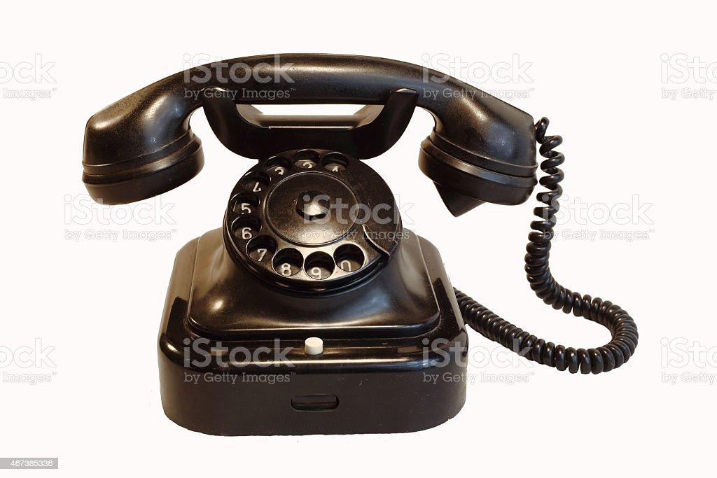 Black retro rotary phone royalty-free stock photo