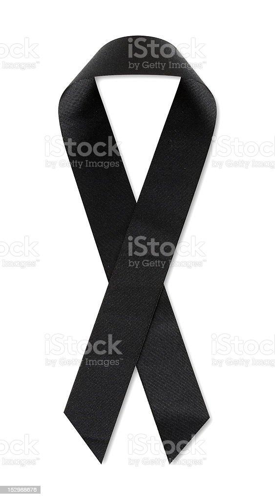 POW/MIA Black ribbon stock photo