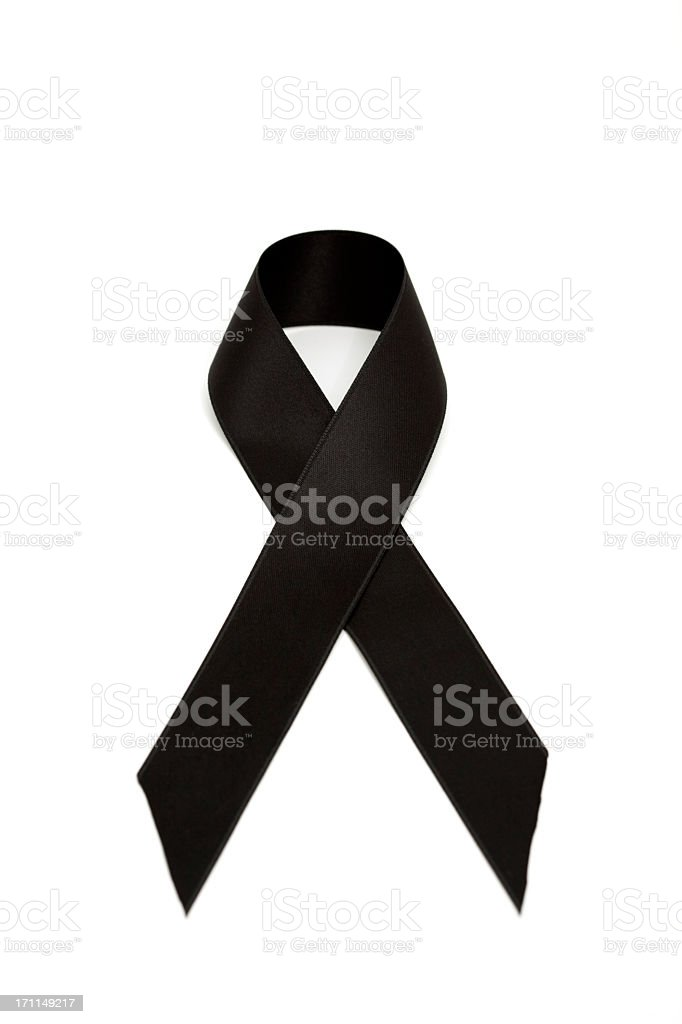 black ribbon stock photo