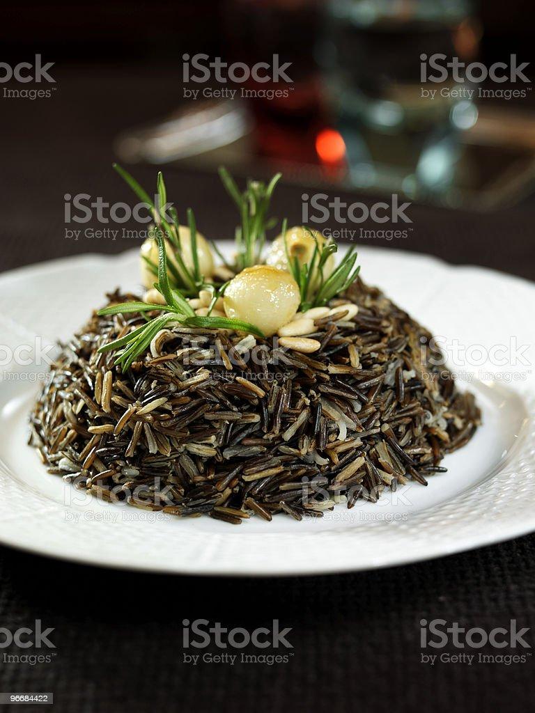black rice dish stock photo