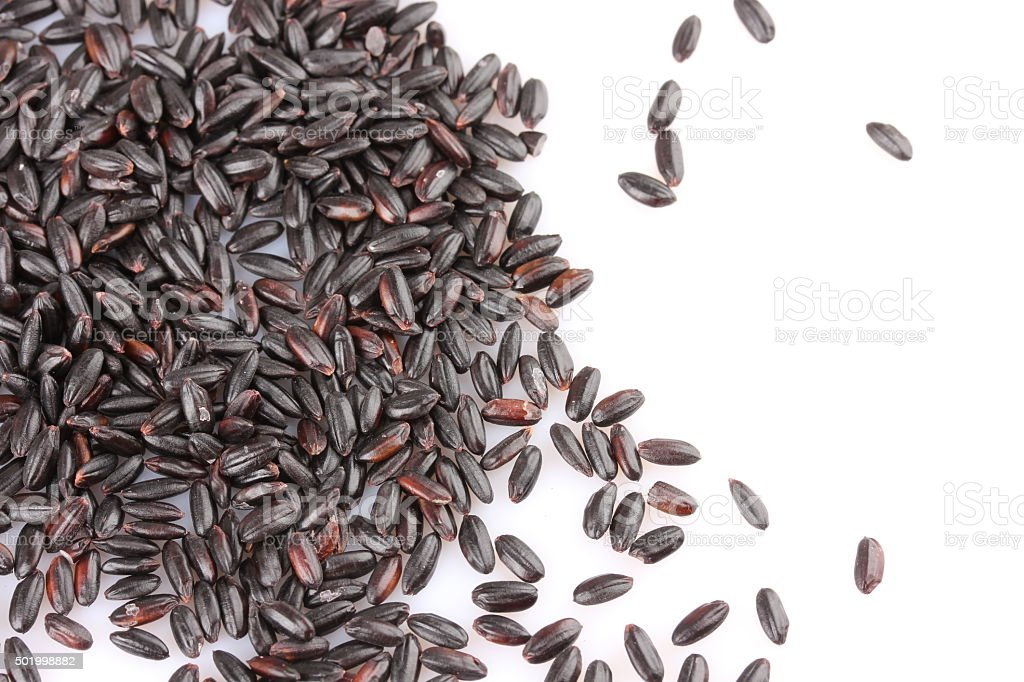 black rice stock photo